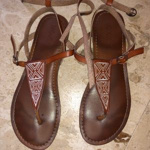 Roxy scrappy brown sandal